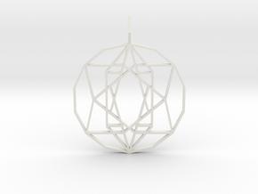 Star of Hope (Flat) in White Natural Versatile Plastic