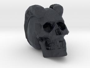 Carved Demon Skull in Black PA12