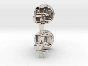 Piston Cufflinks in Platinum