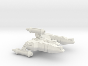 3788 Scale Lyran Refitted War Destroyer Scout CVN in White Natural Versatile Plastic