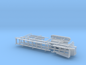 1/87th Folding tracked conveyor belt in Smooth Fine Detail Plastic
