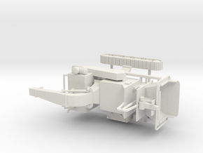 1/50th Tracked Mobile Chipper in White Natural Versatile Plastic