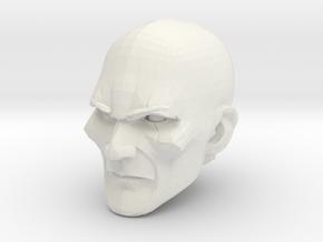 Bald Head 2 in White Natural Versatile Plastic