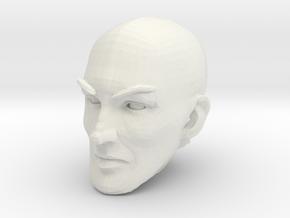 Bald head 3 in White Natural Versatile Plastic