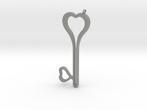 Heart Key Necklace-24 in Gray PA12