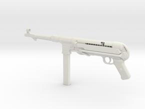 MP40 1/3rd Scale in White Natural Versatile Plastic
