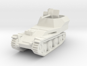 Flakpanzer 38 t scale 1/100 in White Natural Versatile Plastic