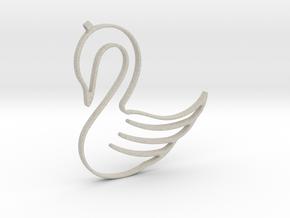 Swan Necklace-27 in Natural Sandstone