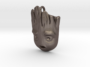 Baby Groot Pendant in Polished Bronzed-Silver Steel