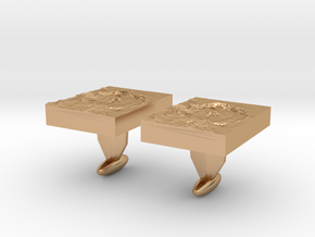 Moon Crater Cuff links in Polished Bronze
