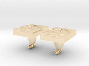 Moon Crater Cuff links in 14k Gold Plated Brass
