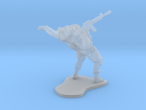 Modern Soldier getting shot, scale: 1:72 in Smooth Fine Detail Plastic