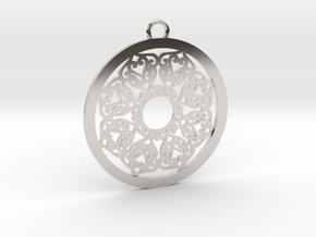 Ornamental pendant no.2 in Platinum