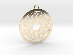 Ornamental pendant no.2 in 14K Yellow Gold