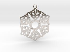 Ornamental pendant no.3 in Rhodium Plated Brass