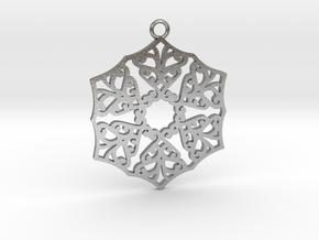 Ornamental pendant no.3 in Natural Silver