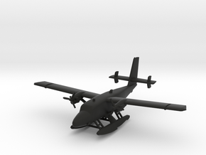 de Havilland Canada DHC-6 Twin Otter Seaplane in Black Natural Versatile Plastic