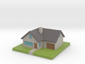 Miniature Country House in Natural Full Color Sandstone