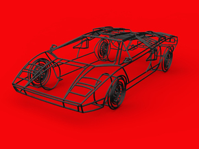 Lamborghini Countach 1:18 in Black Natural Versatile Plastic