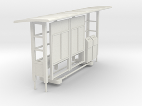 T-01 Croydon Tramlink Tram Stop Detail Set in White Natural Versatile Plastic