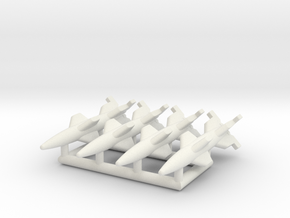 (1:350) (x4) EMW C2 Wasserfall W-5 in White Natural Versatile Plastic