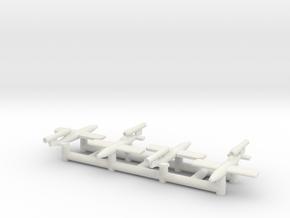 (1:350) (x4) Fieseler Fi 103R (Reichenberg) in White Natural Versatile Plastic