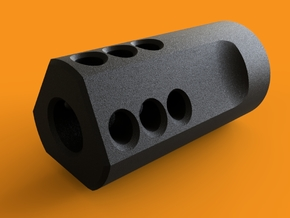 MJW Airsoft Compensator Type B in Black Natural Versatile Plastic