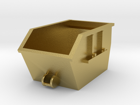 Absetzcontainer Absetzmulde 1:160 Spur N in Natural Brass