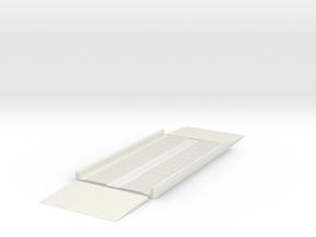 LKW-Waage 3-teilig 1:160 Spur N in White Natural Versatile Plastic
