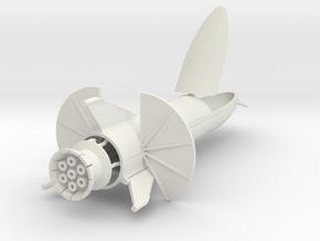 """Starship """"Chomper"""" in 1:500  in White Natural Versatile Plastic"""