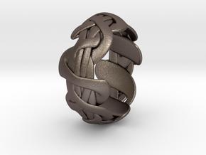 B&G Bracelet 01 in Polished Bronzed-Silver Steel
