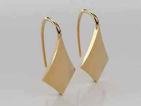 Kite earrings in 14K Yellow Gold