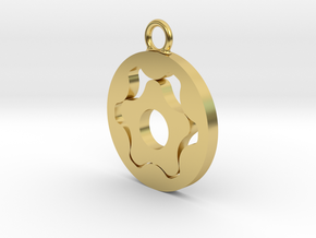 Gerotor Earring 6:5 ratio in Polished Brass