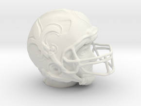 Drew Brees FOR 3D 01_010_19_Head in White Natural Versatile Plastic