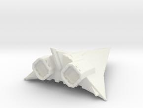 Corvette spaceship in White Natural Versatile Plastic