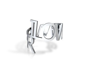 Ring Poem in White Natural Versatile Plastic