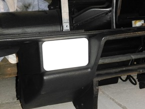 Lancia Delta 1 sunroof switch cockpit cover in White Processed Versatile Plastic