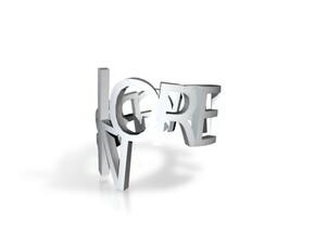 Ring Poem in Polished Gold Steel