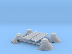 N bollenwagen 2x17m3 NS - trechters voor 2 wagons in Smoothest Fine Detail Plastic