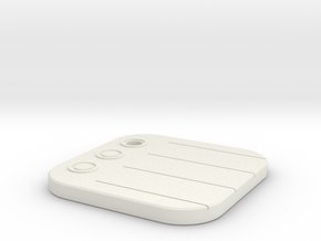 iOS Reminders Keychain in White Natural Versatile Plastic