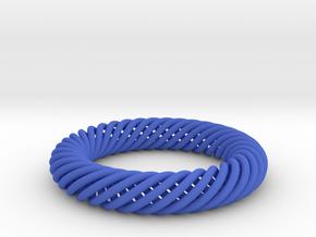Torus Knot Bracelet 70mm inner diameter in Blue Processed Versatile Plastic