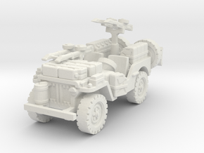 SAS Jeep scale 1/87 in White Natural Versatile Plastic