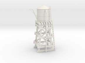 N Scale Water Tower Improved in White Natural Versatile Plastic