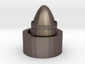 友情 in Polished Bronzed-Silver Steel