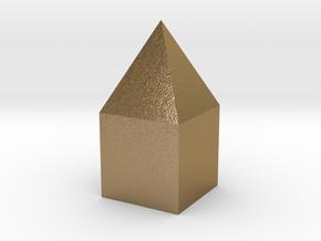 家庭 in Polished Gold Steel: Extra Small