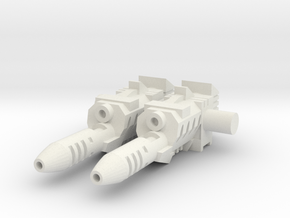 TF CW Blades Helicopter Cannons in White Natural Versatile Plastic