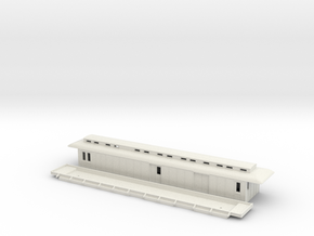 DFo1 - Swedish passenger wagon in White Natural Versatile Plastic