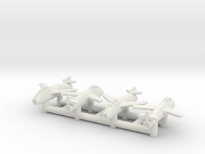 (1:350) (x4) Messerschmitt Me P.1079/51 in White Natural Versatile Plastic