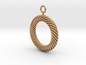 Torus Knot Earring 37 knots in Natural Bronze