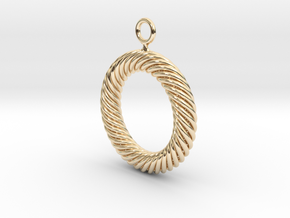 Torus Knot Earring 37 knots in 14k Gold Plated Brass